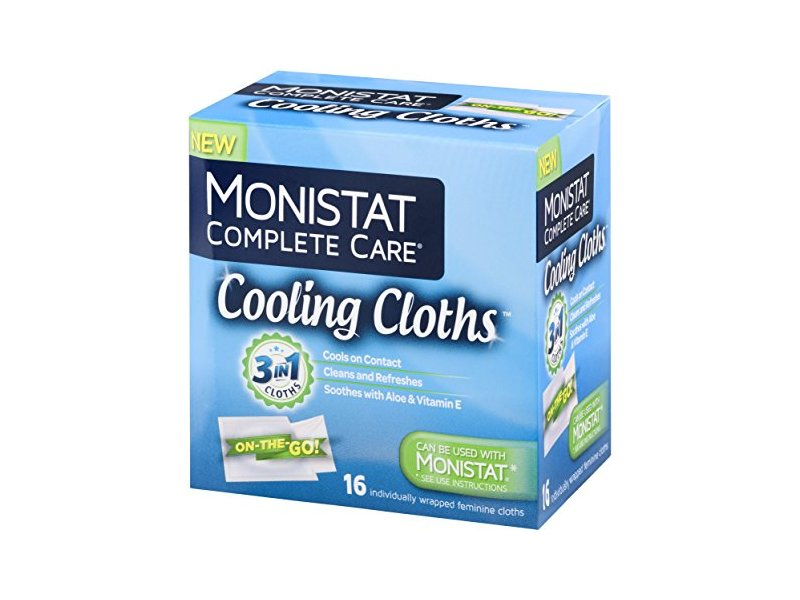 Monistat 3-In-1 Cooling Cloths, Cools On Contact, Soothes with Aloe and Vitamin D, 16 count
