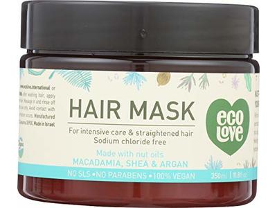 Eco Love Hair Mask For Intensive Care & Straightened Hair, 11.8 fl oz