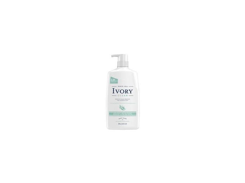 Ivory Clean Body Wash, Coconut Water Scent, 30 fl oz