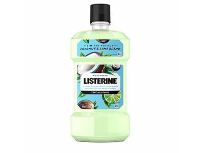 Listerine Zero Alcohol Mouthwash, Coconut Lime Flavor, 500 mL