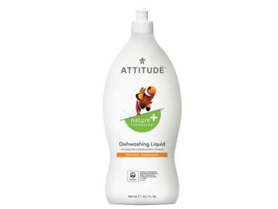 Attitude Dishwashing Liquid,Citrus Zest, 23.7 fl oz - Image 1