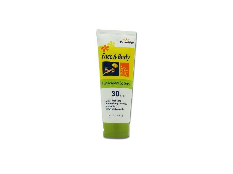 Pure-Aid Face & Body Sunscreen Lotion, 30 SPF, 3.5 oz (100 mL)