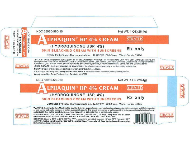 Alphaquin HP 4% Cream (RX), 1 oz Tube, Stratus Pharmaceuticals, Inc.