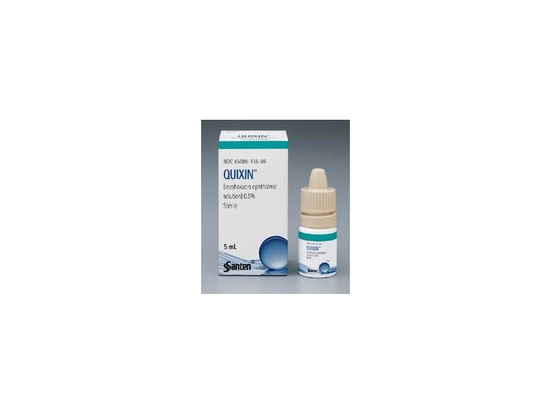 Quixin Ophthalmic Solution 0.5% (RX) 5 ml, Santen, inc.