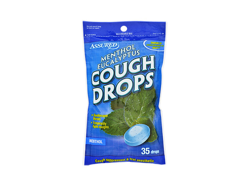 Assured Menthol Eucalyptus Cough Drops, 35 drops