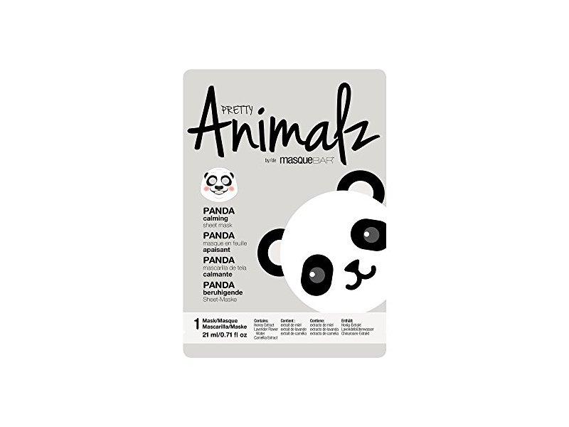 masque Bar Pretty Animalz Sheet Mask, PANDA Calming Full Face Mask, Single Pack