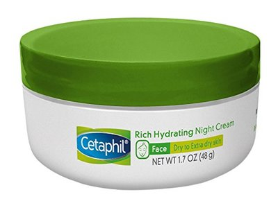 Cetaphil Rich Hydrating Night Cream with Hyaluronic Acid, 1.7 Ounce - Image 1
