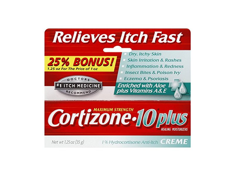 Cortizone-10 Plus Maximum Strength Anti-Itch Cream with Aloe, 1.25 oz
