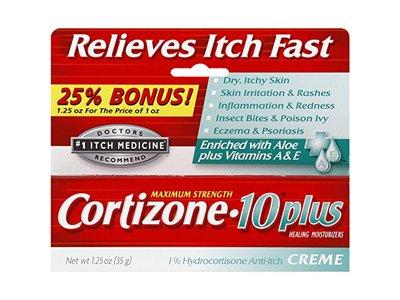 Cortizone-10 Plus Maximum Strength Anti-Itch Cream with Aloe, 1.25 oz