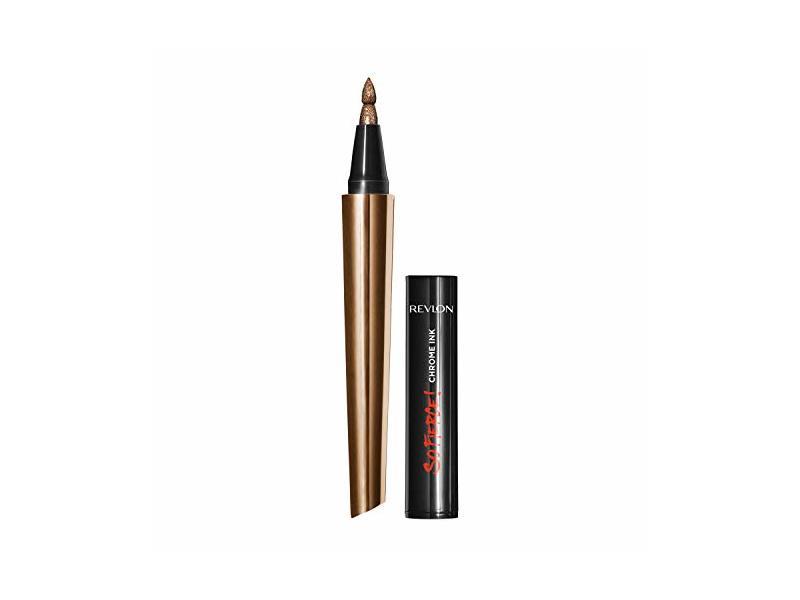 Revlon So Fierce! Chrome Ink Liquid Eyeliner, 902 Bronzage, 0.03 oz.