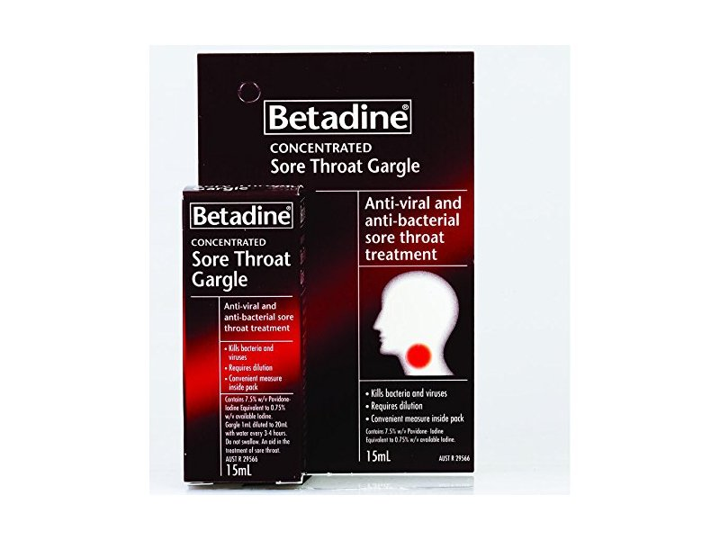 Betadine Concentrated Sore Throat Gargle, 15 mL