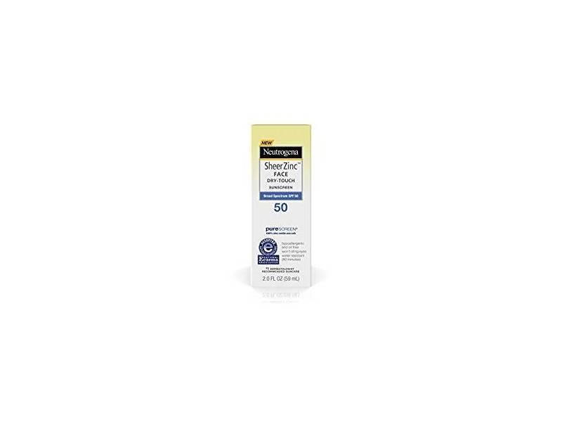 Neutrogena Sheer Zinc Face Dry Touch Sunscreen, SPF 50, 2 fl oz