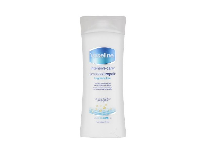 Vaseline Intensive Care Advanced Repair Body Lotion, Fragrance Free, 13.52 fl oz