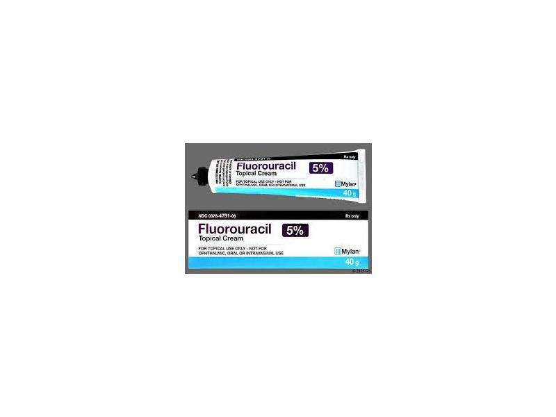 Fluorouracil 5% Topical Cream (RX), 40 gm Mylan Pharma