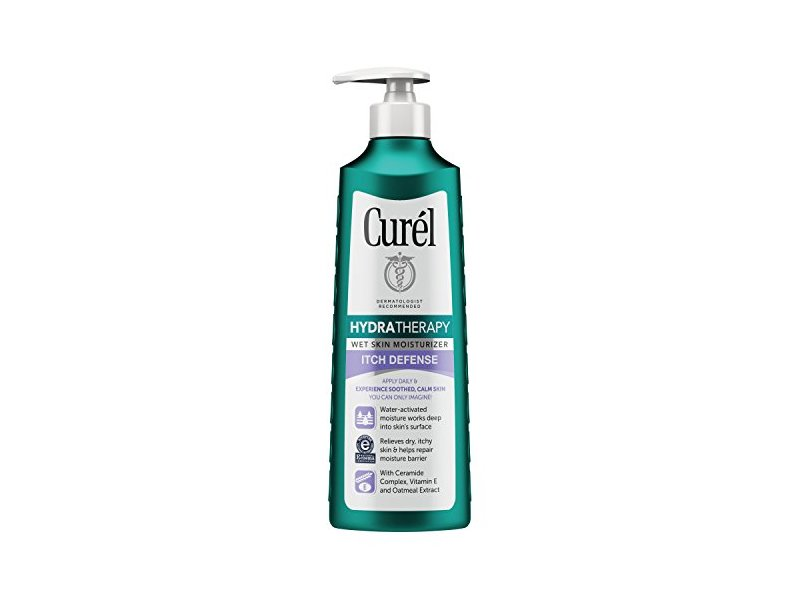Curel Hydra Therapy Itch Defense Wet Skin Moisturizer, 12 fl oz