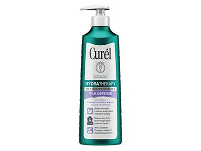 Curel Hydra Therapy Itch Defense Wet Skin Moisturizer, 12 fl oz - Image 1