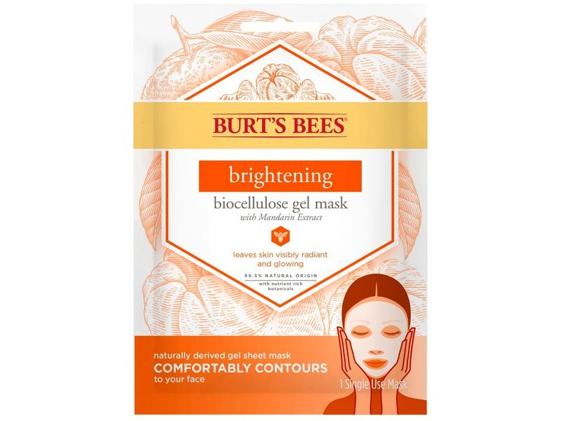 Burt's Bees Brightening Biocellulose Gel Face Mask with Mandarin Extract