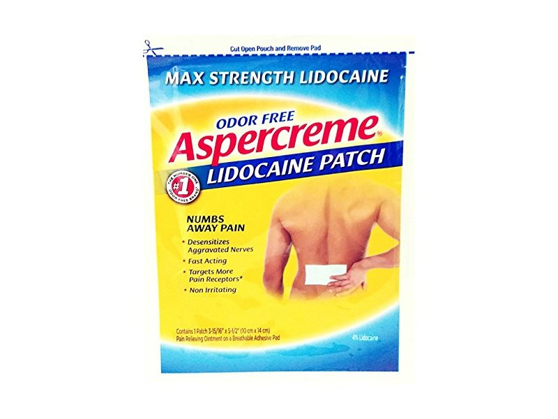 Aspercreme Lidocream Patch, 12 Count