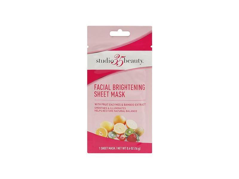 Studio 35 Beauty Fruit Enzyme Bamboo Sheet Mask, 0.6 oz