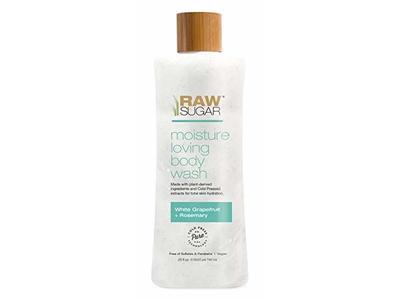 Raw Sugar Moisture Loving Body Wash, White Grapefruit + Rosemary, 25 fl oz/740 mL