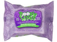 Boogie Wipes Natural Saline Kids and Baby Nose Wipes for Cold and Flu, Grape Scent, 45 Count - Image 1