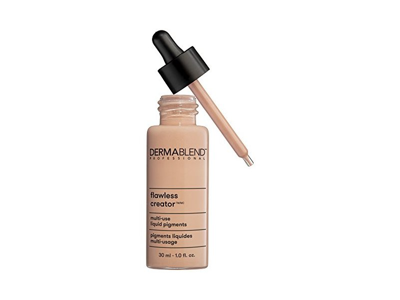 Dermablend Flawless Creator Liquid Foundation Makeup Drops, Oil-Free, Water-Free, 37N, 1 Fl. Oz.