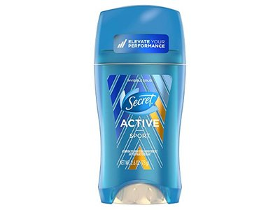 Secret Active Invisible Solid Antiperspirant and Deodorant, Sport, 2.6 oz