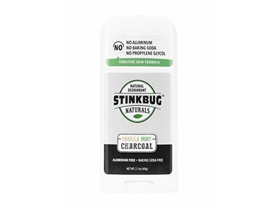 Stinkbug Naturals Organic Charcoal Deodorant Stick - Natural Vanilla Mint with Activated Charcoal - 2.1 oz