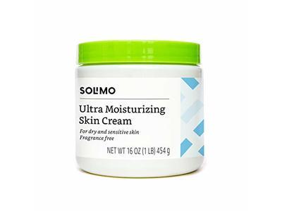 Solimo Ultra Moisturizing Skin Cream for Dry & Sensitive Skin, Fragrance Free, 16 Ounce
