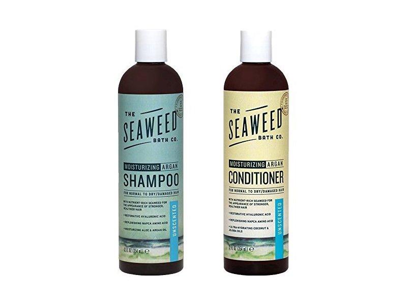 The Seaweed Bath Co. Moisturizing Unscented Argan Shampoo and Conditioner, 12 fl oz