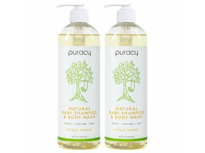 Puracy Natural Baby Shampoo & Body Wash, Citrus Grove, 16 oz/473 mL (2 pack)