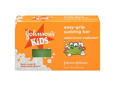Johnson's Kids Easy-Grip Sudzing Bar, Watermelon Explosion, 2.46 oz - Image 1