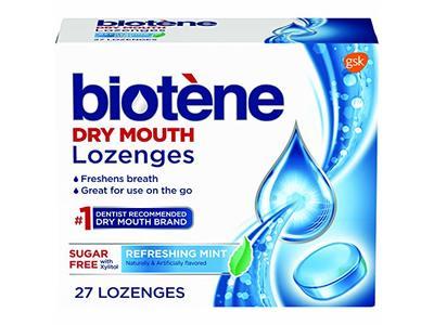 Biotene Dry Mouth Lozenges, Refreshing Mint, 27 ct