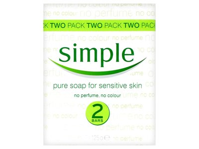 Simple Pure Soap Bar for Sensitive Skin, 125g