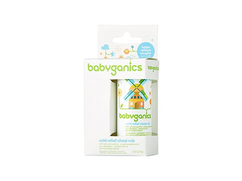 BabyGanics Say Aahhh! Cold Relief Chest Rub Stick