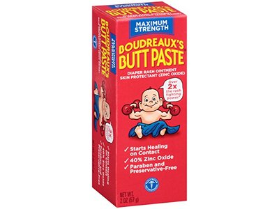 Boudreaux's Butt Paste Diaper Rash Ointment, Maximum Strength, 2 Ounce