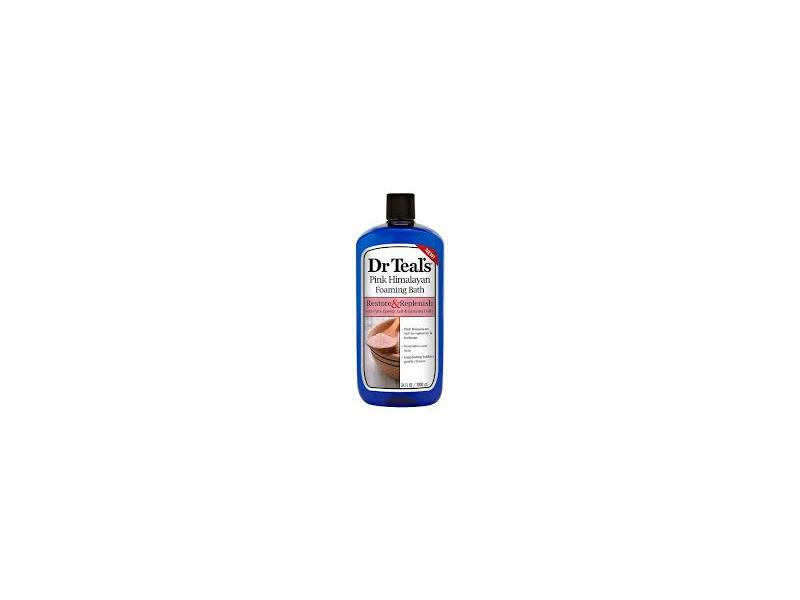 Dr Teal's Restore & Replenish Pure Epsom Salt & Essential Oils Pink Himalayan Foaming Bath, 34 oz