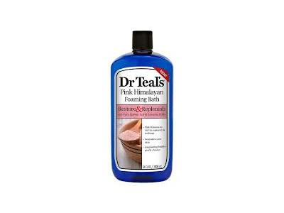 Dr Teal's Restore & Replenish Pure Epsom Salt & Essential Oils Pink Himalayan Foaming Bath, 34 oz - Image 1