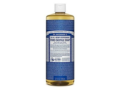 Dr. Bronner's 18-in-1 Hemp Peppermint Pure Castile Oil, 25 fl oz
