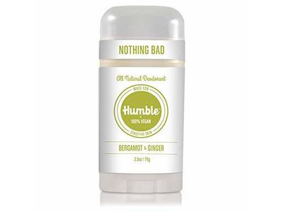 HumbleAll Natural Deodorant for Sensitive Skin, Bergamot & Ginger, 2.5 oz
