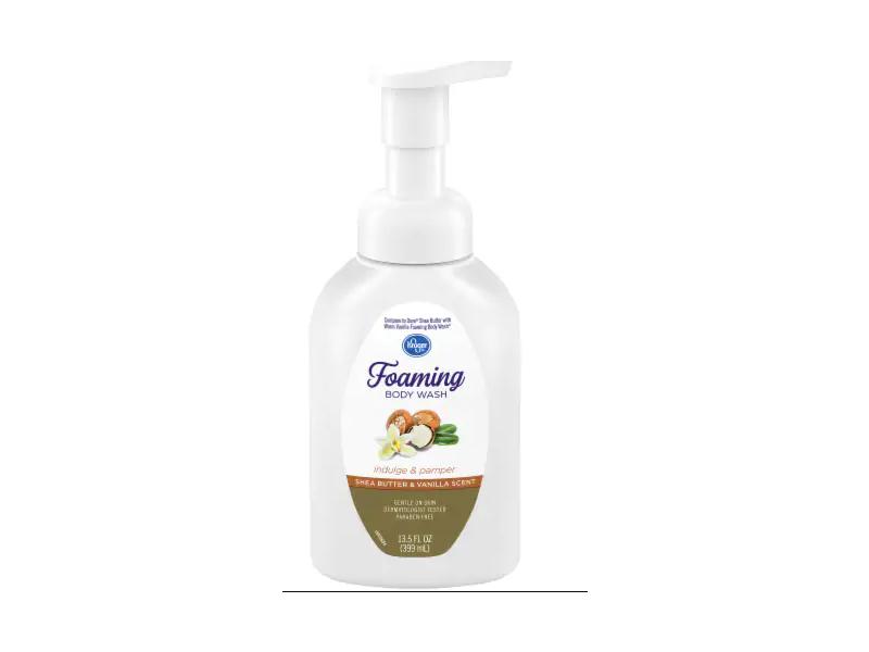 Kroger Foaming Body Wash, Shea Butter & Vanilla Scent, 13.5 fl oz / 399 mL