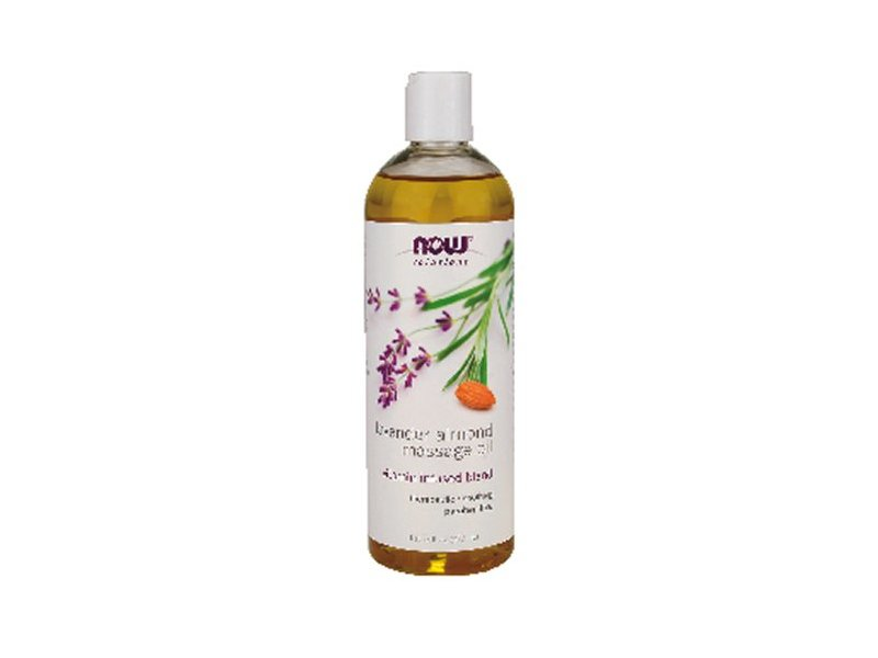 NOW Solutions Massage Oil, Lavender Almond, 16 fl oz (Pack of 12)