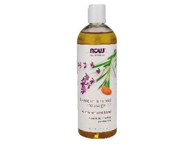 NOW Solutions Massage Oil, Lavender Almond, 16 fl oz (Pack of 12)