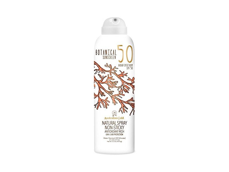 Australian Gold Botanical Sunscreen SPF 50 Natural Spray, 6 Fl Oz