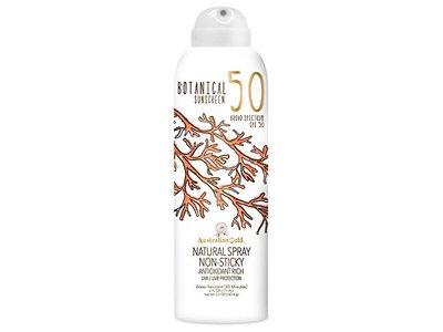 Australian Gold Botanical Sunscreen SPF 50 Natural Spray, 6 Fl Oz