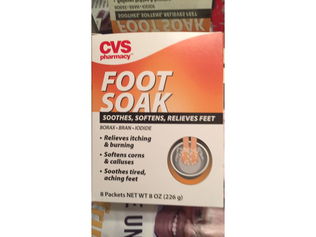 cvs pharmacy foot soak  8 ct ingredients and reviews