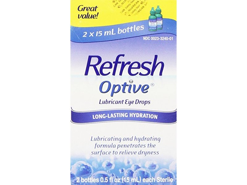 Refresh Optive Lubricant Eye Drops, 15 ml