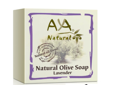 Aya Natural Olive Soap, Lavender, 100 g