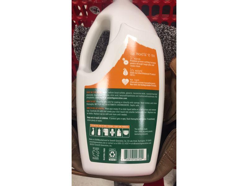Seventh Generation Free & Clear Natural Dish Liquid, 50 fl oz