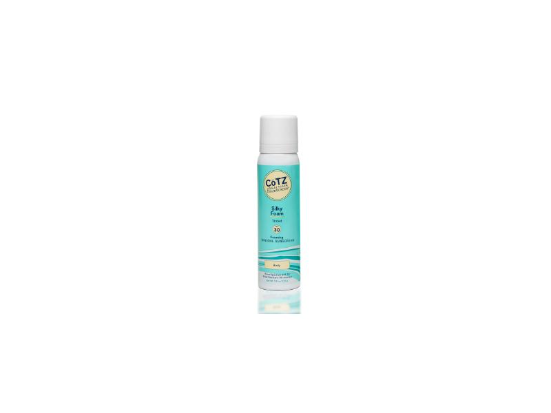 CoTZ Silky Foam SPF30 Mineral Sunscreen, Tinted, 3.5 oz